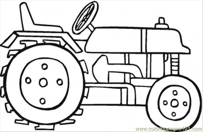 Modern Tractor Coloring Page Coloring Page - Free Land Transport ...