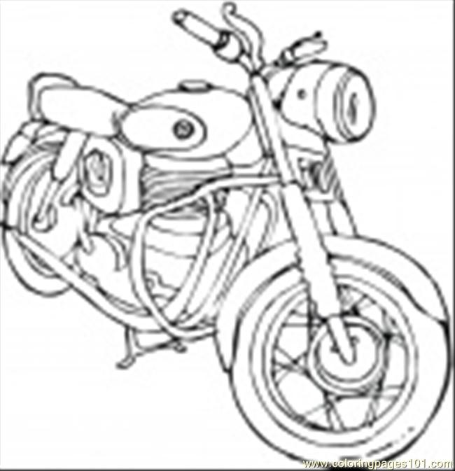 Motorcycle Coloring Page Coloring Page