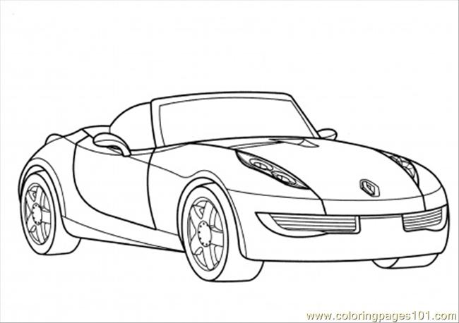 Renault Wind Coloring Page Coloring Page