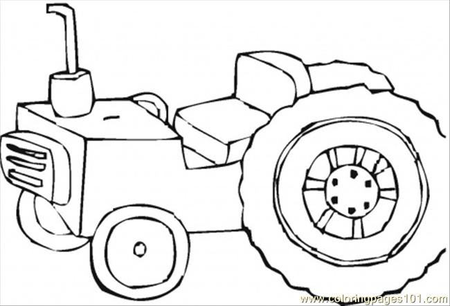 Tractor Coloring Page Coloring Page