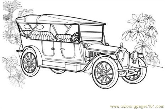 Ackard Twin Six Coloring Page Coloring Page