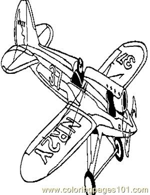 Airplanes (9) Coloring Page