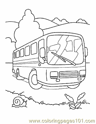 Bus Coloring Page 03 Coloring Page