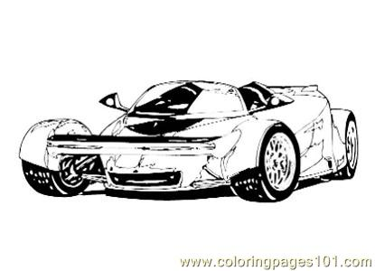 Car016 Coloring Page
