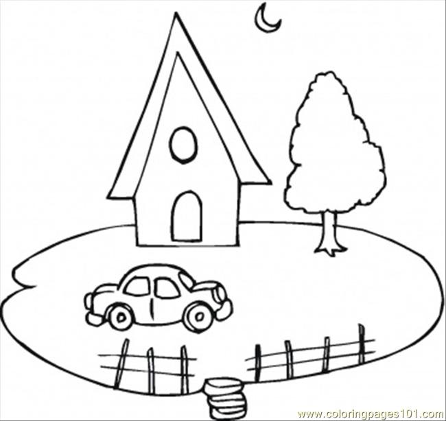 house and a car coloring page coloring page free land transport