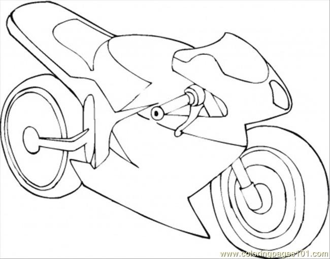 Motorbike Coloring Page