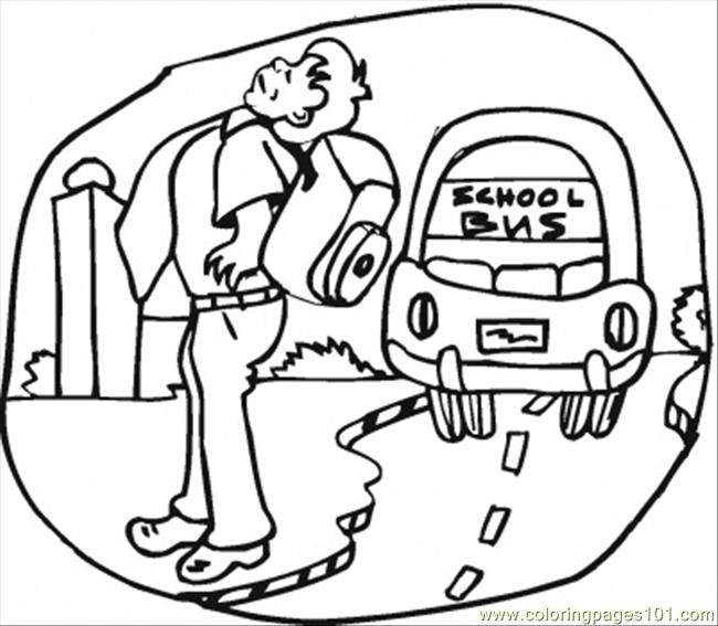 O To The School Coloring Page Coloring Page