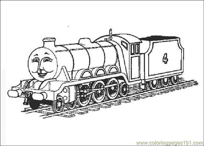 Thomasthetrain 08 Coloring Page - Free Land Transport ...