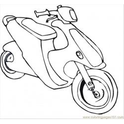 Bike Coloring Page