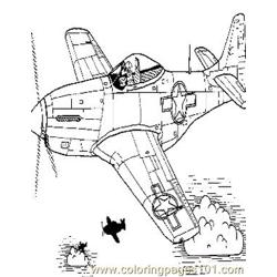 Airplanes (14) Free Coloring Page for Kids
