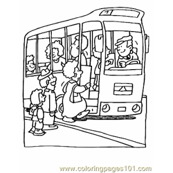 Bus Coloring Page 04