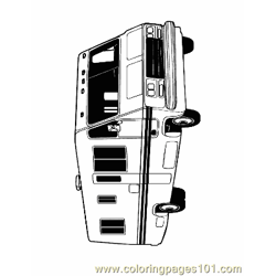 Bus Coloring Page 06
