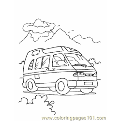 Bus Coloring Page 10