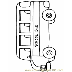 Bus Coloring Page 11
