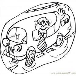 Of A Shcool Bus Coloring Page
