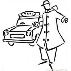 Ome To The Taxi Coloring Page coloring page