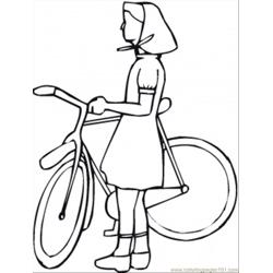 Rl With Bicycle Coloring Page