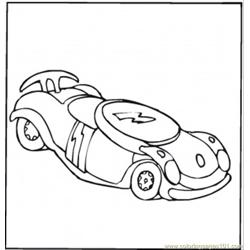 Toy Car Formula 1 coloring page