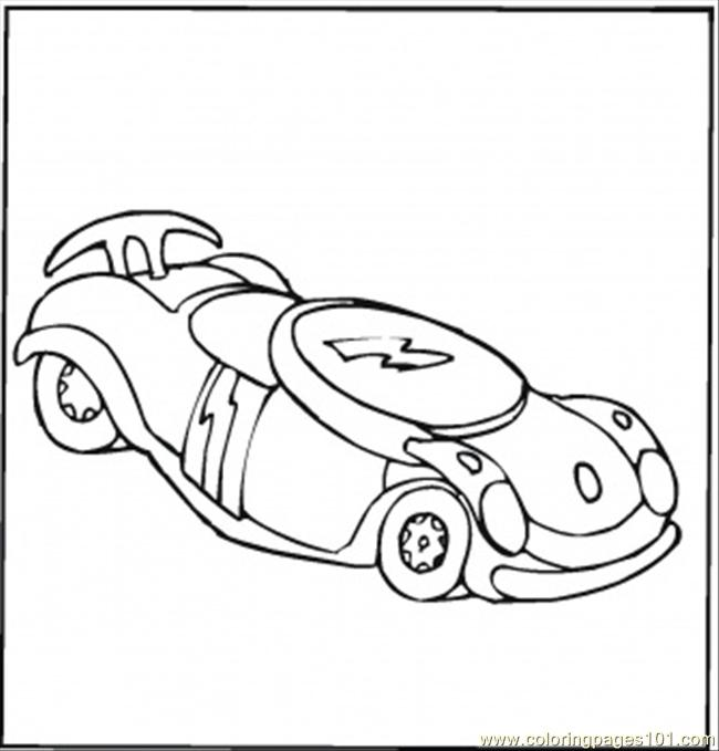 Pencil And In Color Drawn Car Formula 1: Toy Car Formula 1 Coloring Page