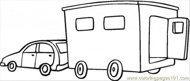 Trailer Coloring Page
