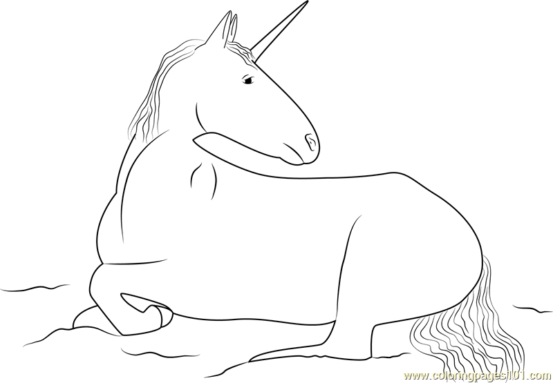 A Real Unicorn Coloring Page