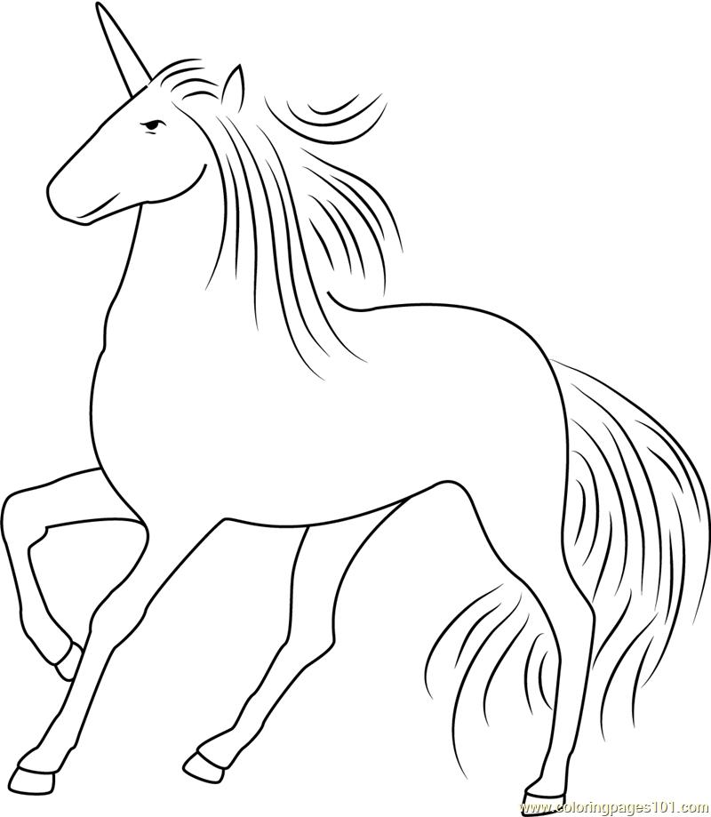 Beautiful Unicorn Coloring Page - Free Unicorn Coloring ...
