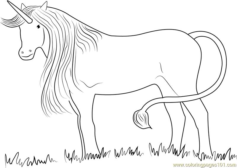 Silver Unicorn Standing in Miisty