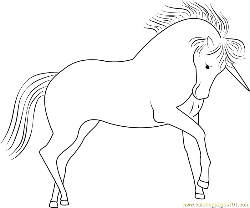 Unicorn Dawn Look Coloring Page