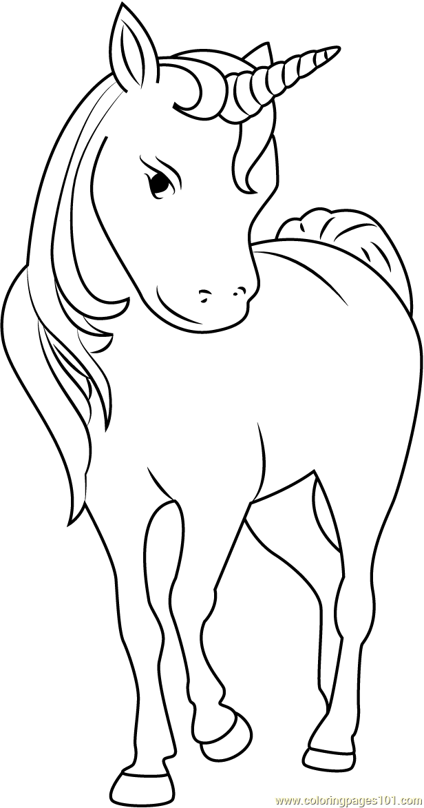 Unicorn Face Coloring Page Free