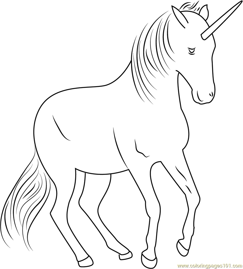 Unicorn Fly Coloring Page Free