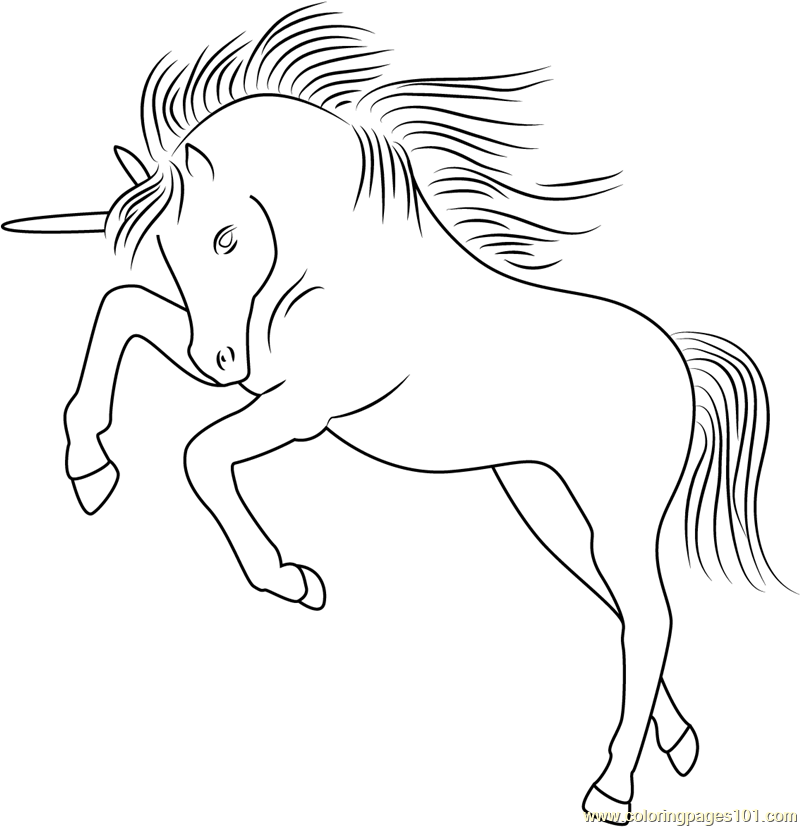 Unicorn Licorne Coloring Page