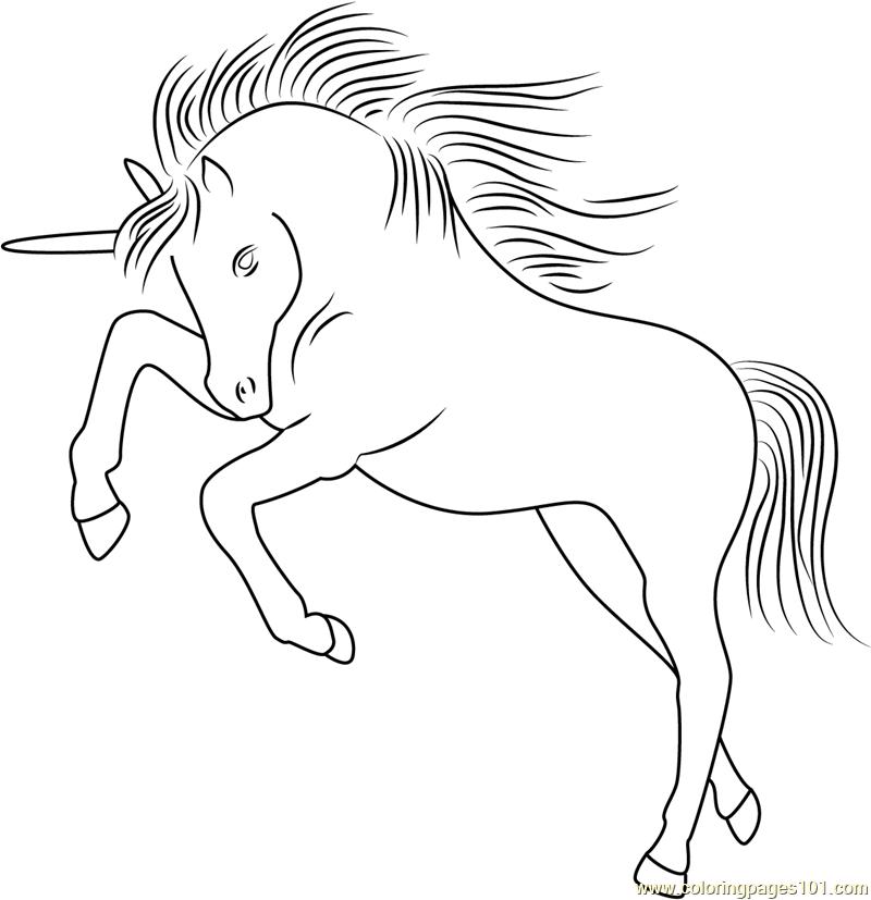 Unicorn Licorne Coloring Page Free Unicorn Coloring