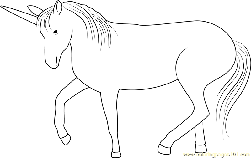 Unicorn Look Coloring Page