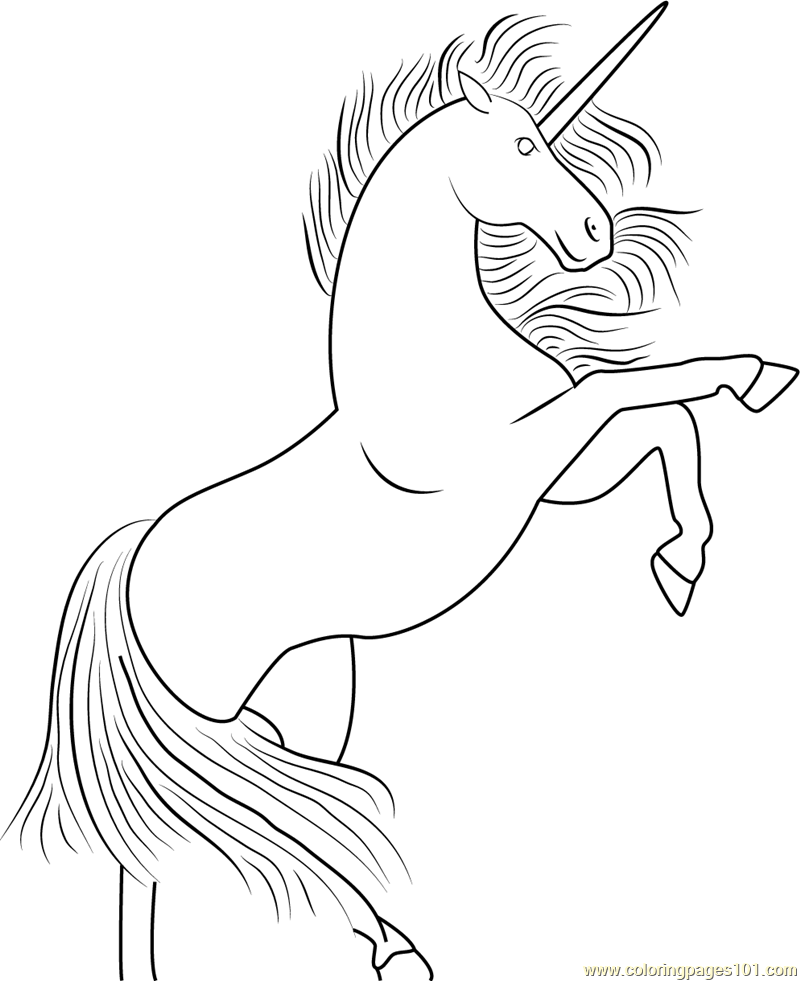 Unicorn Up Coloring Page