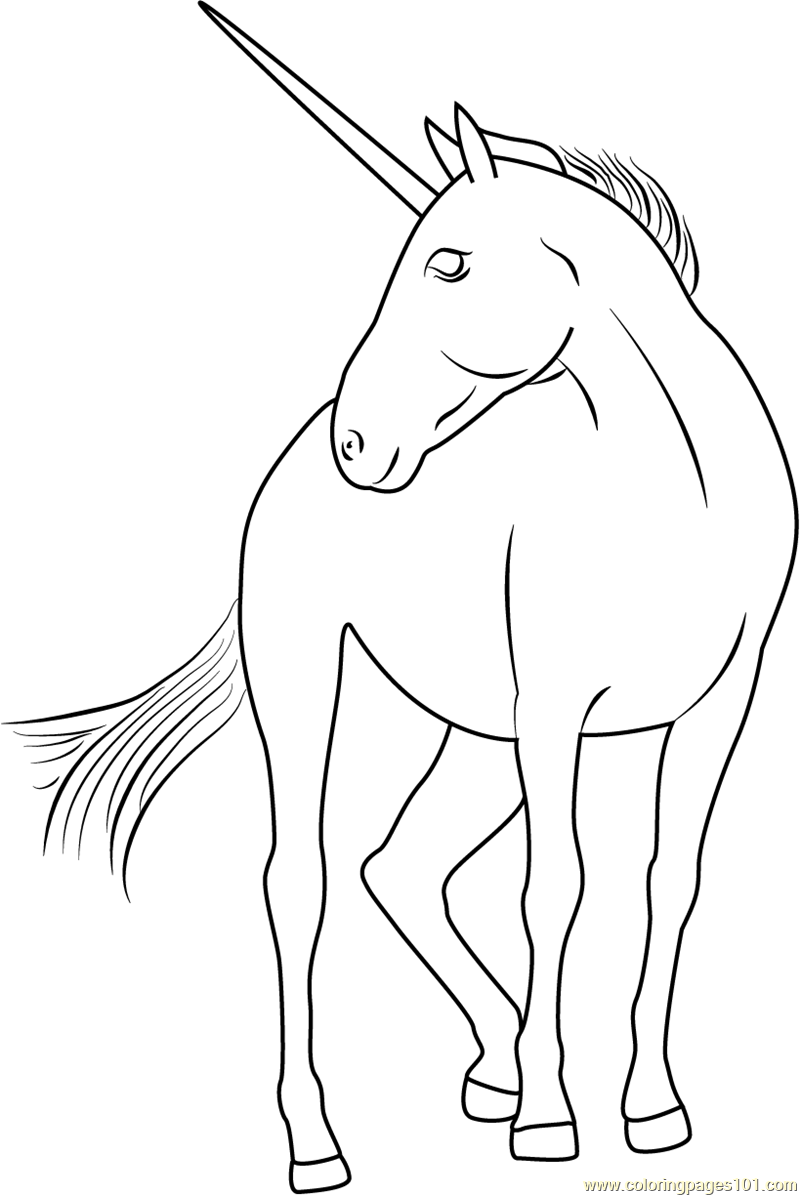 Unicorn by Astate Coloring Page