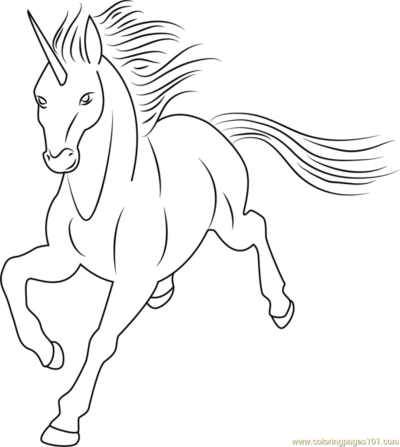 Unicorn By Dolphy Coloring Page Free Unicorn Coloring