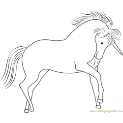 Unicorn Dawn Look Free Coloring Page for Kids