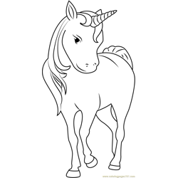 Unicorn Face Free Coloring Page for Kids