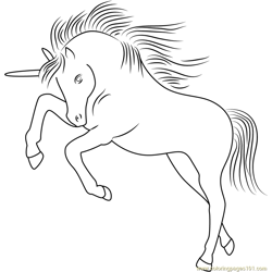 Unicorn Licorne Free Coloring Page for Kids
