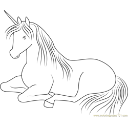 Unicorn Relaxing Free Coloring Page for Kids