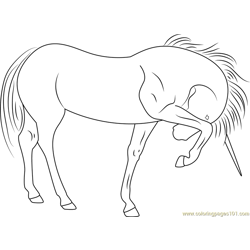 Unicorn See At Free Coloring Page for Kids