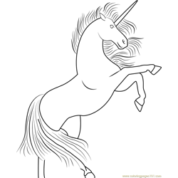 Unicorn Up Free Coloring Page for Kids