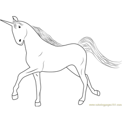 Unicorn Free Coloring Page for Kids