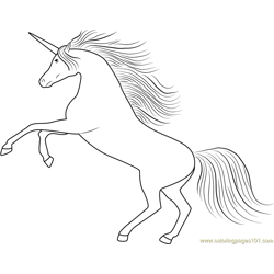 Unicornik Free Coloring Page for Kids