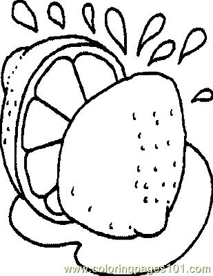 Lime Coloring Page
