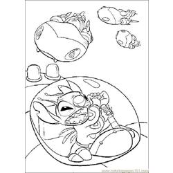 Lilo Stitch03 Free Coloring Page for Kids