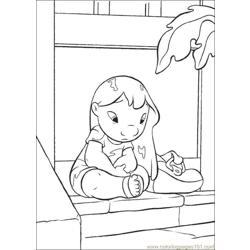 Lilo Stitch05 Free Coloring Page for Kids
