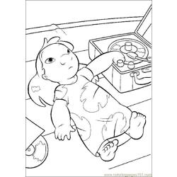 Lilo Stitch06 Free Coloring Page for Kids