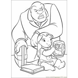 Lilo Stitch07 Free Coloring Page for Kids