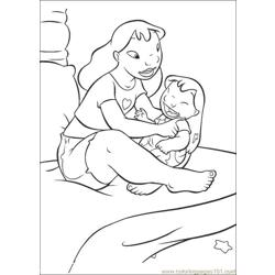 Lilo Stitch08 Free Coloring Page for Kids